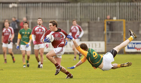 Westmeath's Philip Sheridan gets away from Meath's Mark Ward during last Sunday's league encounter. Photo: johnobrienimages.com