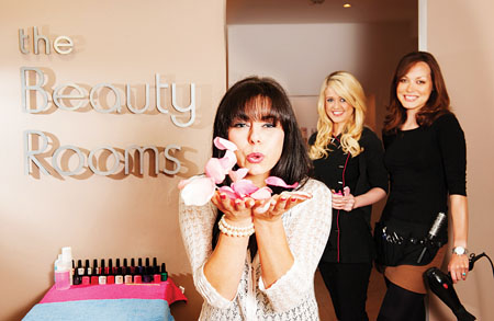 Pictured at the launch of The Beauty Rooms located at Barry's Hair Studio on Shop Street - which has just been re-launched after undergoing a complete transformation and under the new management of Barry's Hair Studio were salon receptionist Eliana Fusco [centre] with beauty therapist Fionnuala Wilkins and Melissa Costello of Barry's Hair Studio. Pic: Reg Gordon