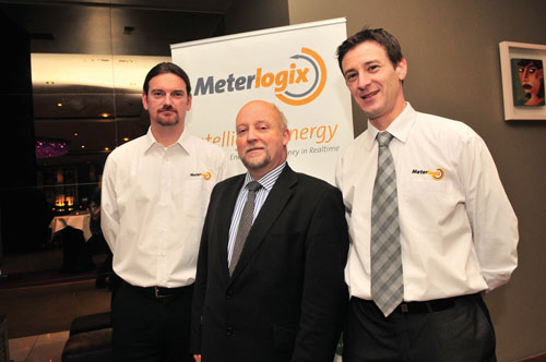 Ollie Walsh MD of Meterlogix, Dr Chris Coughlan, senior manager from HP who officially launched the business, and Roy Glennon, head of sales for Meterlogix.