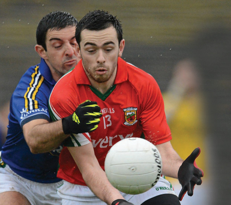 Eyes on the ball: Mayo fans will be hoping Kevin McLoughlin will be on top form again on Sunday. Photo: Sportsfile