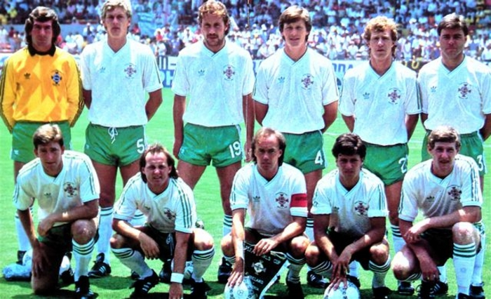 Northern Ireland's Mexico 86 squad.