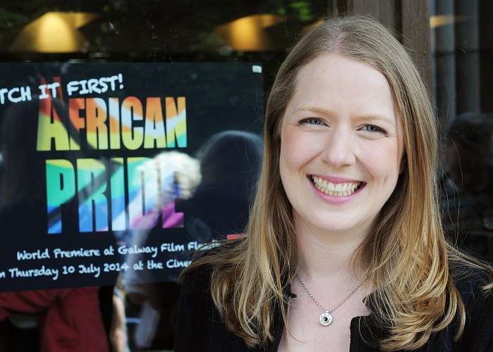 Laura Fletcher, director of African Pride, which won Best Human Rights Documentary at the Galway Film Fleadh.
