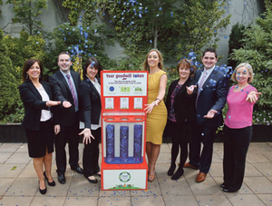 Pictured at the launch of Tesco Community Fund is broadcaster Kathryn Thomas with Marion Browne (Tesco Swinford),  Johnny McClintock (Tesco Ballina), Catherine Swift (Tesco Castlebar), Bernie Gormley (Tesco Claremorris), Shane Hopkins (Tesco Westport) and Aisling Wynne (Tesco Ballinrobe).