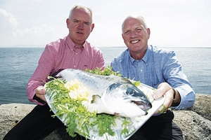 Liam Roche (Cill Chiaráin Éisc) and Pat Connors (Marine Harvest Ireland)