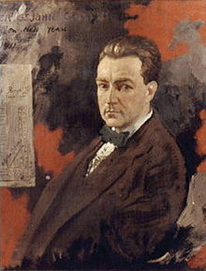 Oliver St John Gogarty: despite his youthful exploits,  was loyal to the women in his life (painting by William Orpen 1911).