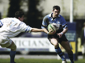 Fullback Willie Ruane - Ballina, Galwegians, Connacht and the Barbarians - in action with Galwegians in the All Ireland League in 2001.