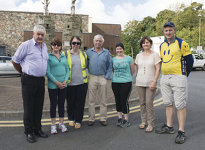 Mayo Cancer Support Association, Great Western Greenway Charity Cycle took place over the weekend from Westport to Achill. Pictured are some of the organisers from John Tiernan, Helen Rose, Catherina Feehan, Patsy Walsh, Regina Duffy, Jean Foy and Peter Tunney. Photo: Michael McLaughlin