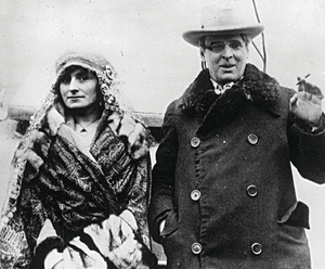 Honeymoon at Renvyle: WB Yeats with his wife George, who enjoyed a successful life together.