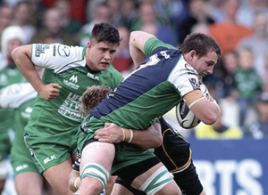 On attack: Connacht's Jake Heenan, who injured his shoulder in the victory over the Dragons, is a doubt for tomorrow's Guinness Pro 12 fixture against Edinburgh.				Photo: Mike Shaughnessy