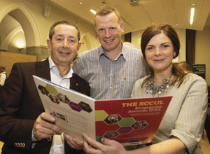 At the launch were  Colm Feeney SSL Logistics; Frank Lohan, Frank Lohan Accounting and Sarah Roarty, N17. Pic: Andrew Downes